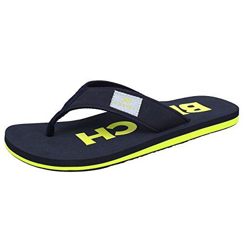 BOCKSTIEGEL Chanclas para hombres y mujeres | Varios diseños | Zapatillas de ducha | Suela antideslizante amarillo