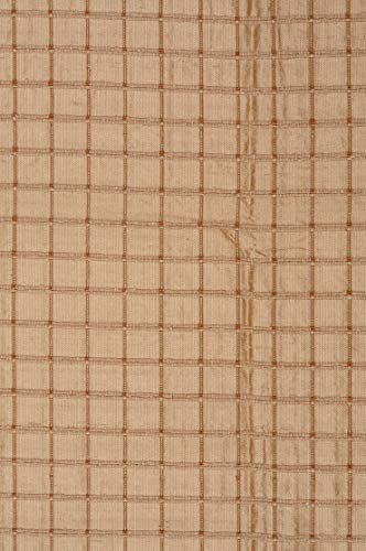 Pale Gold Silk Shantung Windowpane 44