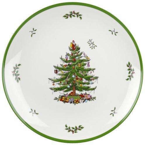 Christmas Tree Round Platter - Spode Christmas Tree Melamine Round Platter