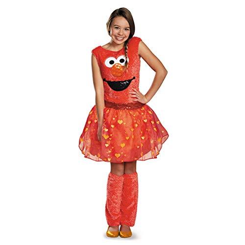 Disguise Sesame Street Elmo Tween Deluxe Tween Costume, Large/10-12 ()