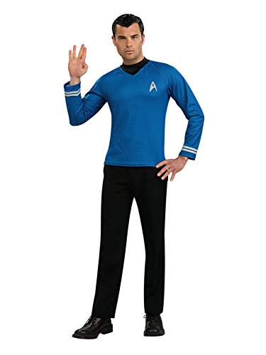 Star Trek Movie Deluxe Blue Shirt, Adult Medium - Trek Costume 2009 Star