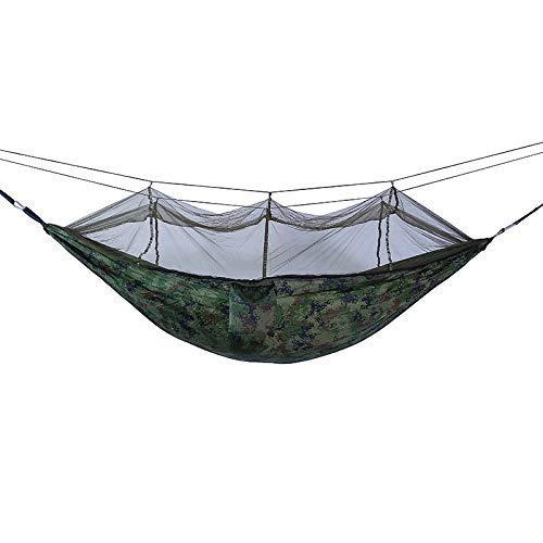 Travel Insect Net Fishing Hammock | Outdoor Indoor Garden Beach Camping | Outdoor Travel Hammock Camping Hiking Backpack (Color : Camouflage, Size : 260x140cm)