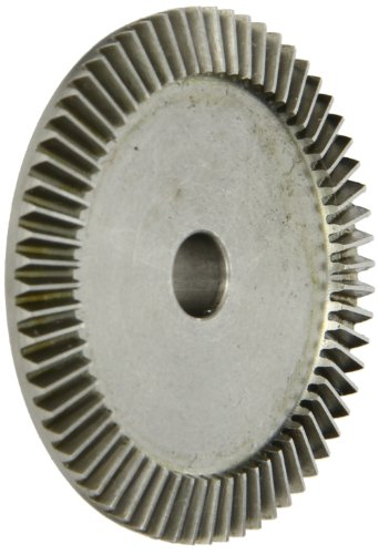 Boston Gear GSS486YG Bevel Gear, 0.313 Bore, 4:1 Ratio, 20 Degree Pressure Angle, 32 Pitch, 64 Teeth, Stainless Steel