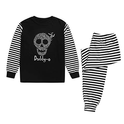 Halloween Family Pajama Set, Costumes Holiday Macthing Sleepwear Skull Skeleton Trick Or Treat PJ ()