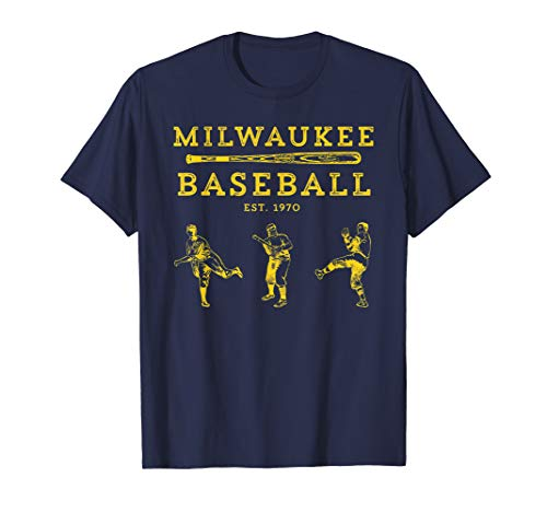Classic Milwaukee Baseball Fan Retro T-Shirt
