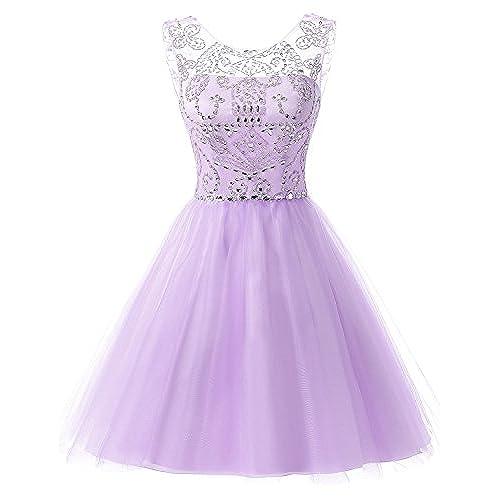 Purple Short Tulle Dress
