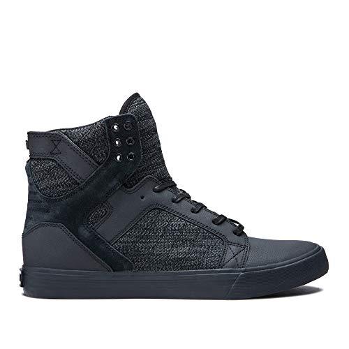 Supra Footwear - Skytop High Top Skate Shoes, Black/Dark Grey-Black, 8 M US Women/6.5 M US Men