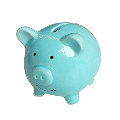 Baby Blue Pig (TOOGOO(R) Piggy Banks for Kids, Ceramic Material, Cute Pig for Decoration, Baby Nursery Gift (Blue))