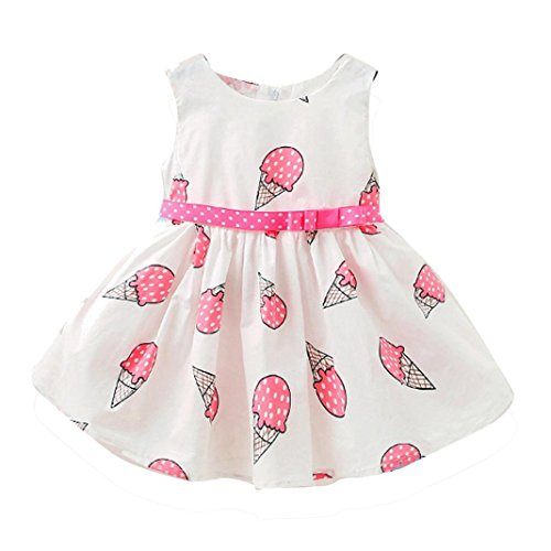 Toddler Girls Dress, METFIT Cute Child Baby Ice Cream Printed Tulle Dress (Ice Cream Dress Up)
