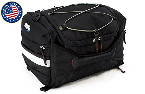 Chase Harper 4200 Hideaway Tail Trunk - Water-Resistant, Tear-Resistant, Industrial Grade Ballistic Nylon with Adjustable Bungee Mounting System for Universal Fit, StuffSack Pocket for Easy Transport, 18.8 Liters of Storage - 12