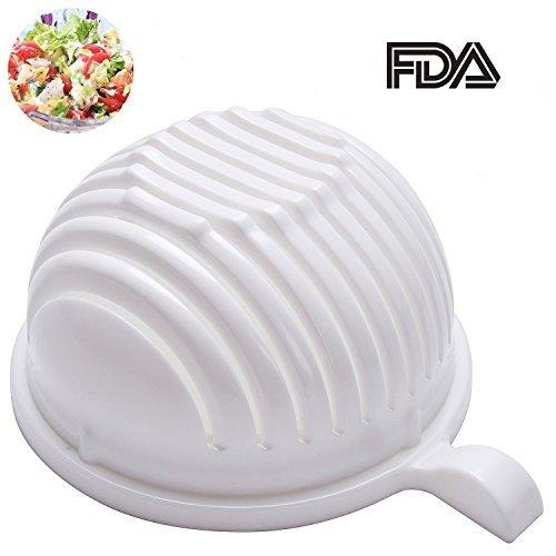 Salad Cutter Bowl, LYH 60 Second Salad Maker, Food Grade ABS Vegetable Cutter, Home Kichen Using Salad Slicer/ Salad Chopper