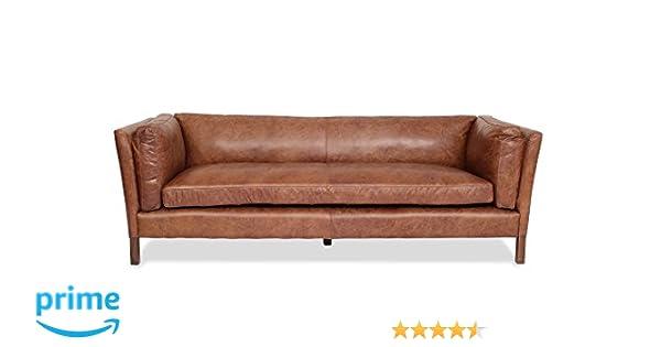 Amazon Com Edloe Finch Modern Leather Sofa Mid Century Modern