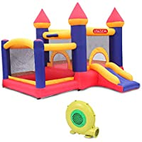 Lovinland Inflatable Castle 420D Oxford Cloth Scraper Surface With Air Blower