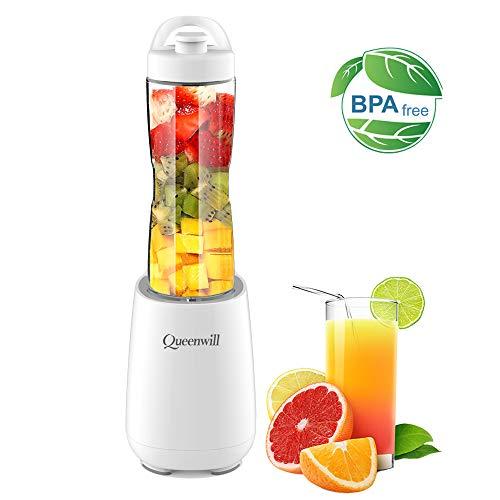 Personal Blender Juicer Electric Fruit Mixer Blender with Portable Sport Bottles for Ice, Shakes, Smoothies & Vegetable Juice Maker