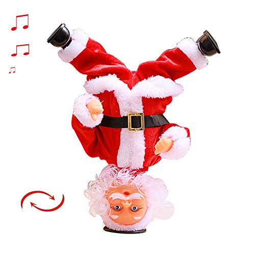MOSTOP Dancing Christmas Santa Ornament Electric Dancing Claus Toy Cute Doll with Music for Christmas Decoration ()