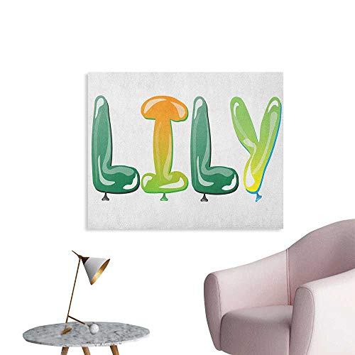Anzhutwelve Lily Wall Paper Colorful Popular Common English