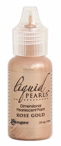 Pearl Gold Paint (Ranger Liquid Pearls Glue, 0.5 oz, Rose Gold)