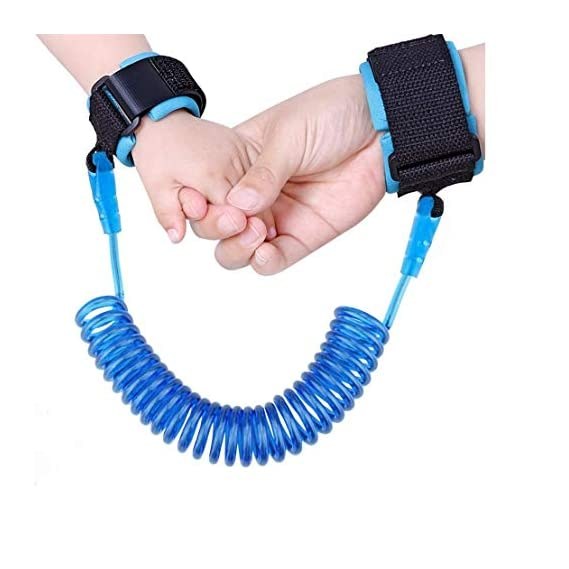 Souxe Child Safety Anti Lost Wrist Link Harness Strap Rope Leash, Walking Hand Belt