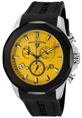 Men's Monte Carlo Chronograph Yellow Textured Dial Black Silicone (Yellow Chronograph Textured Dial)