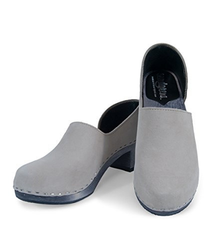 with credit card for sale from china free shipping Sandgrens Swedish High Heel Wooden Clogs for Women | Brett Mocha fXoPUN