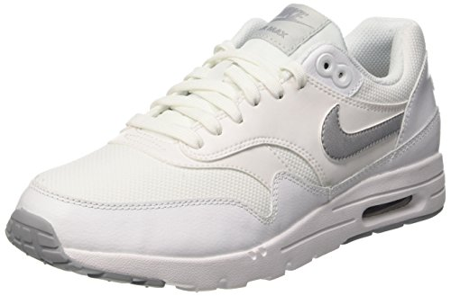 Nike W Air Max 1 Ultra Essentials, Women's Trainers Bianco (White/Wlf Gry-pr Pltnm-mtllc S)