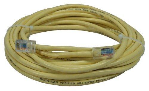 QVS CC712E-10YW 10 ft 350MHz CAT5e Flexible Yellow Patch Cord