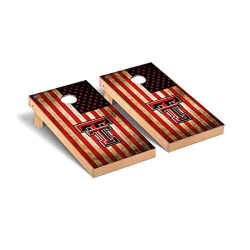 Victory Tailgate Texas Tech Red Raiders Regulation Cornhole Game Set Vintage Flag Version
