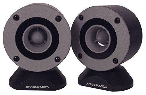 300 Watt Marine Tweeter Speaker - 3.75 Aluminum Bullet Horn w/ 1 Titanium Dome Tweeter, 2k-25kHz Frequency Response, 4 Ohm Impedance, Heavy Duty 20 Oz. Magnet Structure - Pyramid TW28 (Pair)