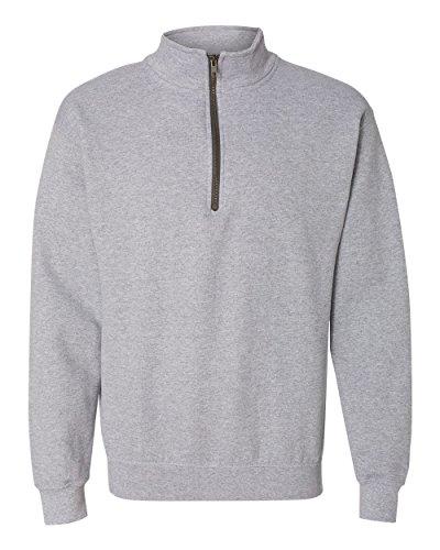 Gildan Adult Vintage 1/4 Zip Sweatshirt Top (XL) (Sport Grey)