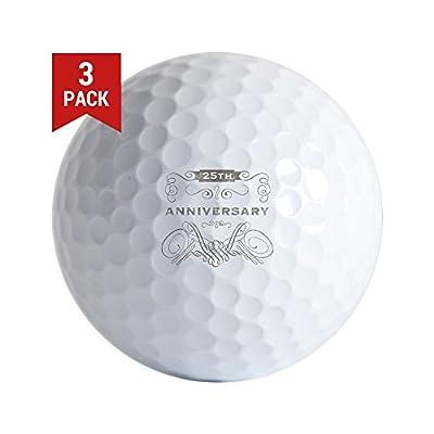 CafePress - 25Th Vintage Anniversary - Golf Balls (3-Pack), Unique Printed Golf Balls