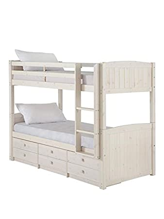 Kidspace Georgie Solid Pine Bunk Bed With Storage And Guest Bed