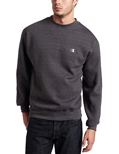 Hanes Ultimate Cotton Crewneck Sweatshirt - Champion Men's Pullover Eco Fleece Sweatshirt, Granite Heather, X-Large