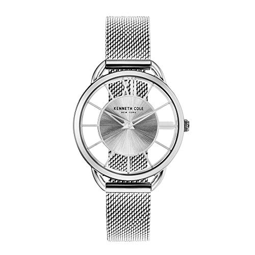 Kenneth Cole New York Women's 'Transparency' Quartz Stainless Steel Casual Watch, Color:Silver-Toned (Model: KC50537001