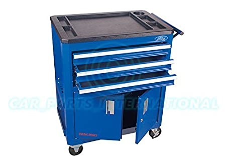 Ford Tools Racing Roller Metal Tool Box Cabinet With Sectioned