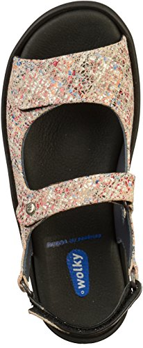WOLKY Women's Rio Leather Strapped Sandal (3325) 40912 Offwhite Multi Suede IE9rsafyj