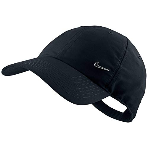 - Nike Metal Swoosh Black Unisex Adult Baseball Cap / Hat One Size