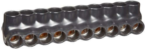 Morris Products 97650 Multi-Cable Connector, Insulated, Dual Entry, Black, 10 Ports, 250 - 6 Wire Range, 5/16'' Allen Hex 10 Ports, 250 - 6 Wire Range, 5/16'' Allen Hex by Morris Products