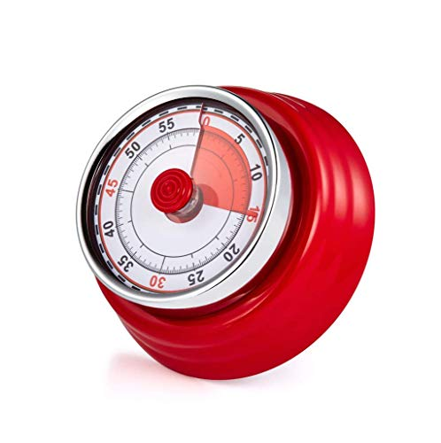 (Qualizon Mechanical Rotating Countdown Kitchen Visual Timer with Alarm (Red))