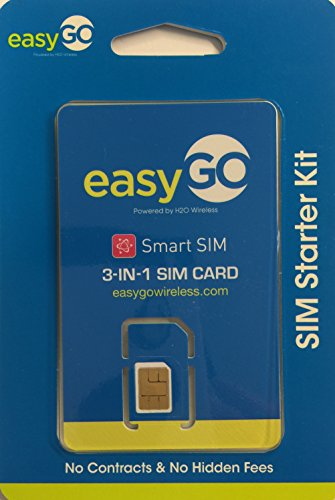 easyGO Triple sim (Nano, Micro, and Standard size compatible) w/ $20 Monthly plan (1st month only). easyGO is MVNO of AT&T