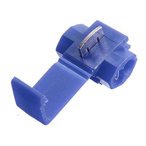 SODIAL (R) 100pcs Splice veloce Connettori Blocco Terminali Wire Crimp elettrico - Blu SODIAL(R) 015532B2