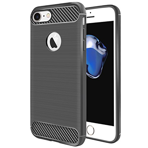 iPhone 7 Case, Coocolor Stylish Silicone Slim Protective Heavy Duty Protection Shock Absorbing TPU Corner Cushion Design for Apple iPhone - Scratches On Hairline Glasses