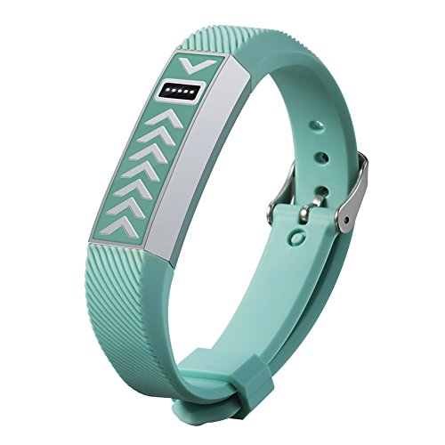 Solutions Leather Wireless Clip (Fitbit Flex Wristband Replacement - Stainless Steel Protective case Cover SmartWatch Wristband For Fitbit Flex)