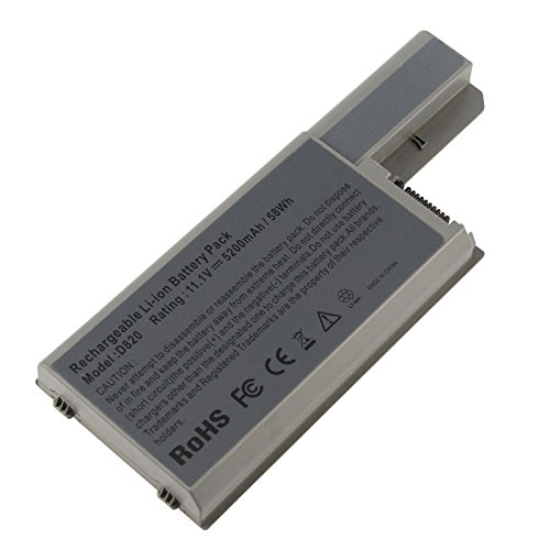 Futurebatt Laptop Battery for Dell Latitude D820 D830 D531 D531N Precision M65 M4300, fits 310-9122/310-9123/312-0393/312-0394/312-0401/312-0402/312-0537/312-0538/451-10308 ()