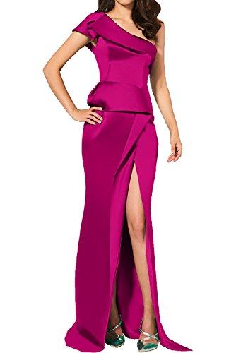 Ein Schlitz Promkleider Partykleider Traeger Etui Elegant Pink Abendkleider Neu Ivydressing Damen mit Cocktailkleider qnUwPT1nt