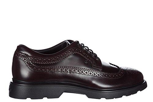 Hogan scarpe stringate classiche uomo in pelle nuove h304 route derby marrone