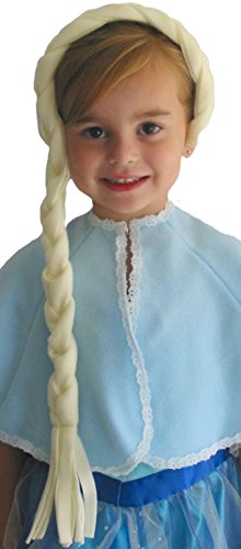 Ice Princess Costume For Adults (Alexanders Costumes Women's Ice Queen 32 Inch Braided Headband, White, One Size)