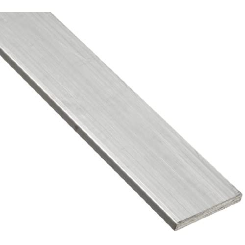 "6063 Aluminum Rectangular Bar, Unpolished (Mill) Finish, T52 Temper, AMS QQ-A-200/9/ASTM B221, 1"" Thickness, 3""..."