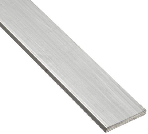6063 Aluminum Rectangular Bar, Unpolished (Mill) Finish, T52 Temper, AMS QQ-A-200/9/ASTM B221, 1/8