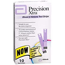 Precision Xtra Blood B-Ketone Test Strips - 10 ct, Pack of 3