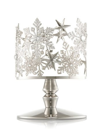 Bath and Body Works Snowflake Pedestal 3 Wick Candle Sleeve. by Bath & Body Works